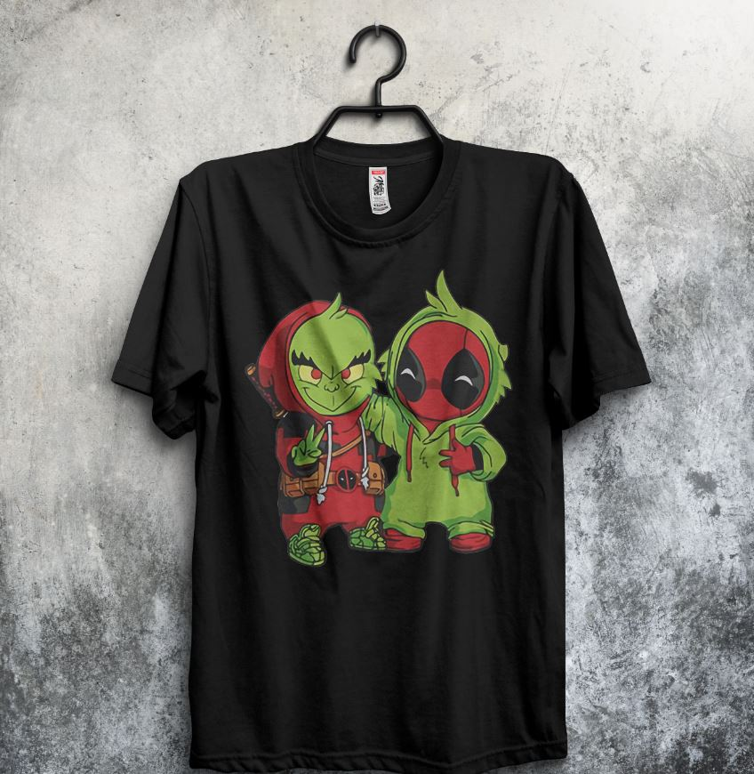 Baby Grinch and Deadpool are friends shirt