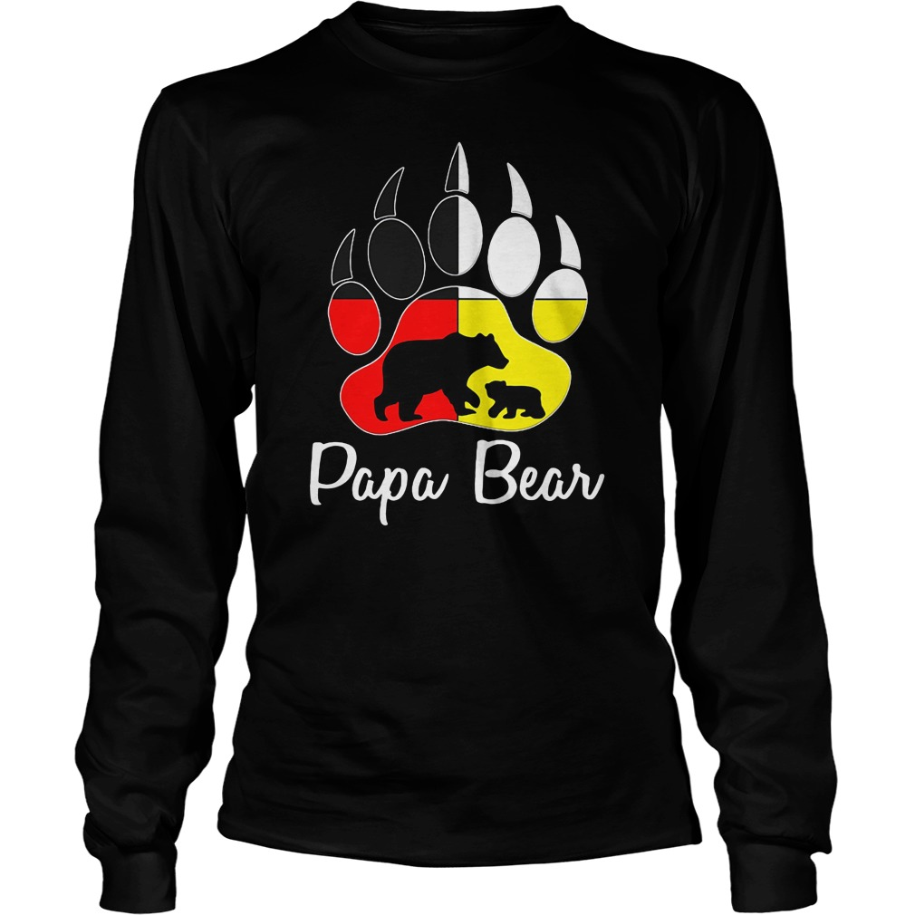 Bear's feet papa bear shirt