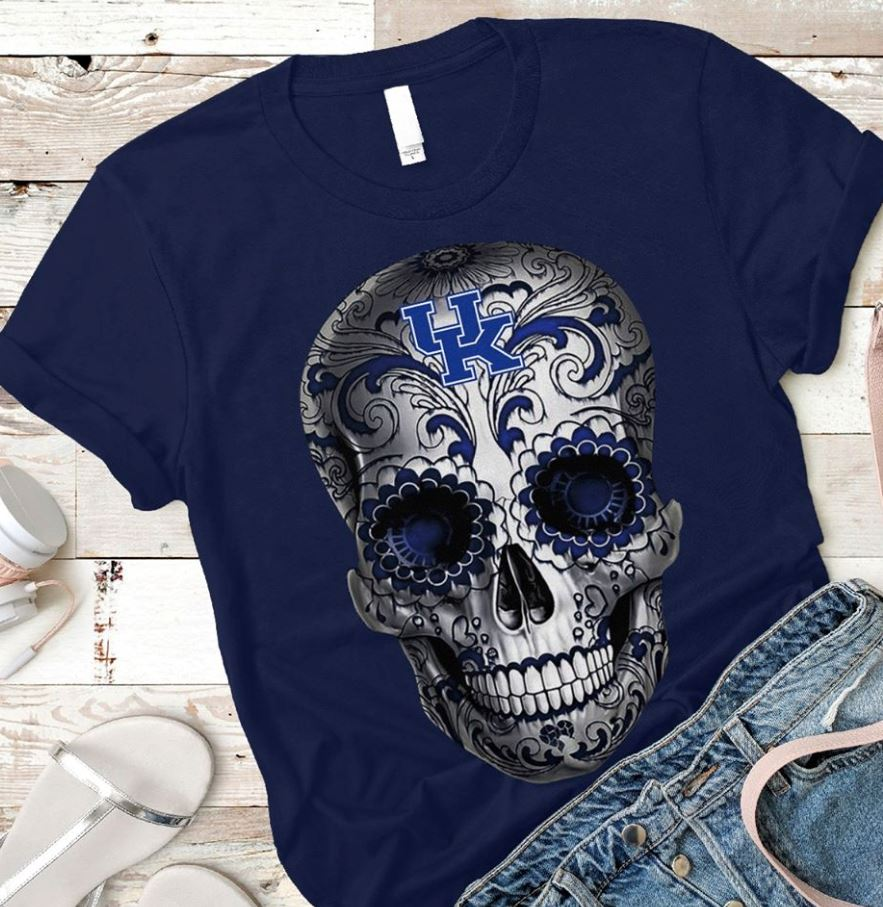 Kentucky Wildcats skull shirt