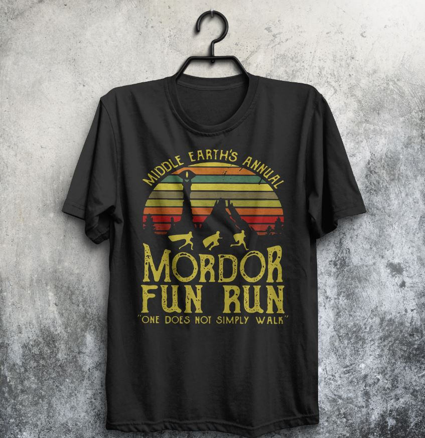 1f2dc947b Middle earth's annual Mordor fun run one does not simply walk shirt