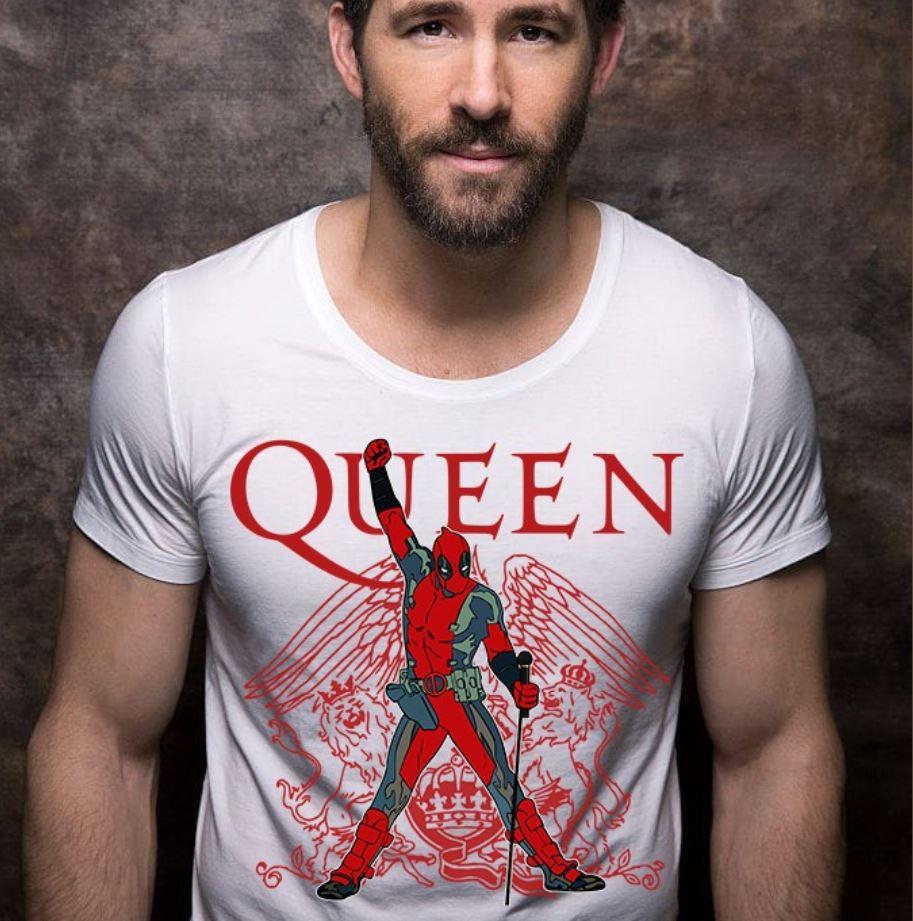 Ryan Reynolds wear Queen Deadpool shirt