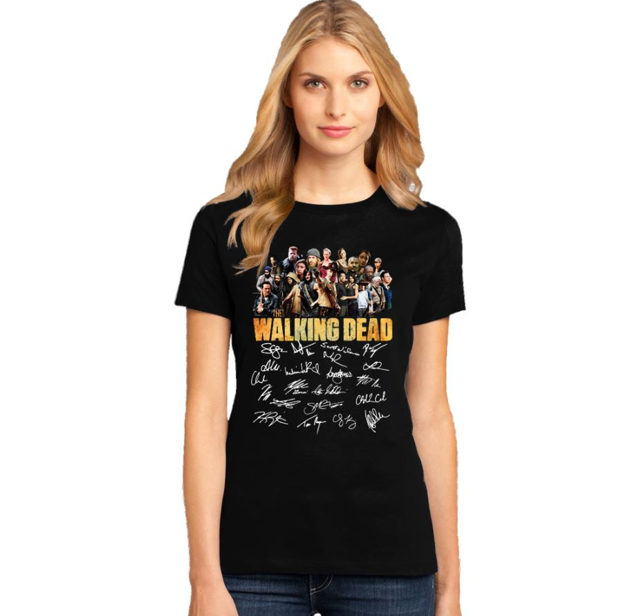 The Walking Dead all character signature shirt