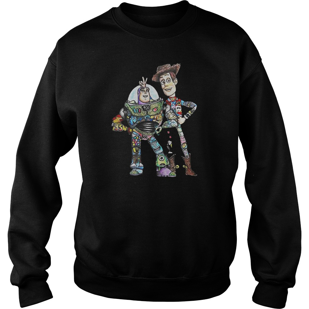 Toy Story character Buzz Lightyear and Woody shirt
