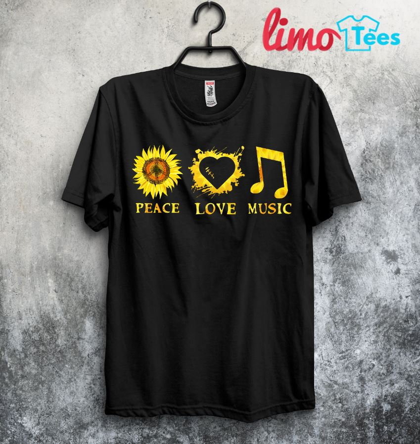 A simple woman who love peace love and music hippie sunflower shirt
