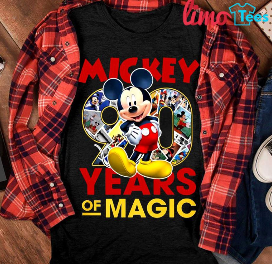 Mickey 90 years of magic Disney shirt
