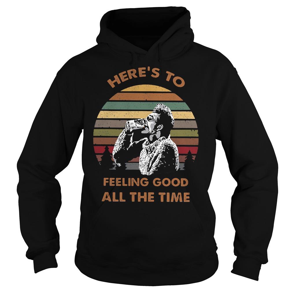 Seinfeld Kramer here's to feeling good all the time retro sunset shirt