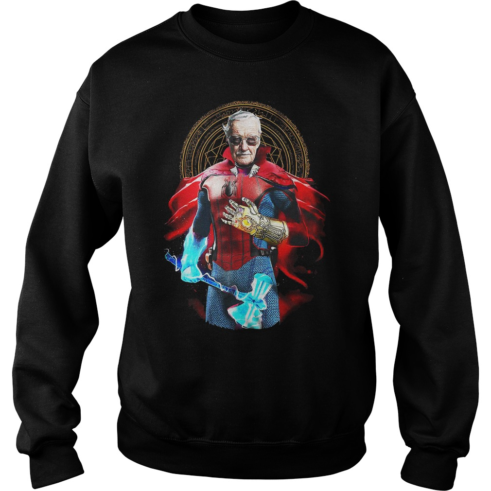 Stan Lee Doctor Strange custom with all avengers heroes in one shirt