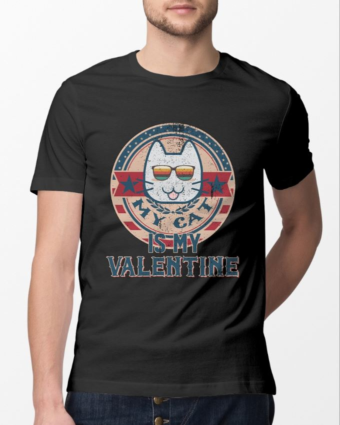 My cat is my Valentine funny cat lover shirt