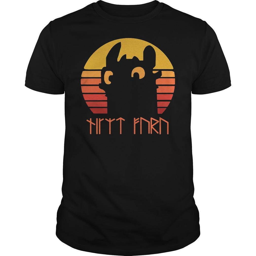 Night Fury vitage sunset shirt
