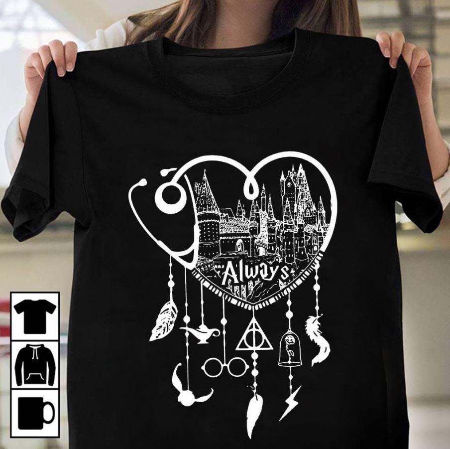 Nurse Hogwarts Disney Dreamcatcher Deathly Hallows ladies t-shirt