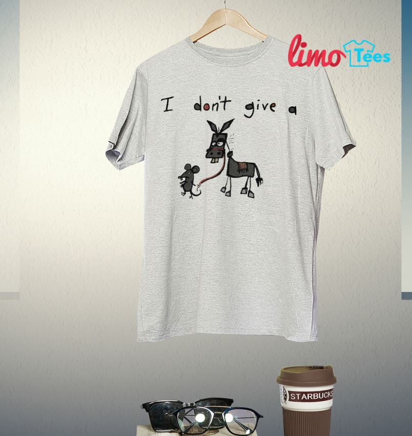 Mouse and Donkey I don't give a rats ass shirt