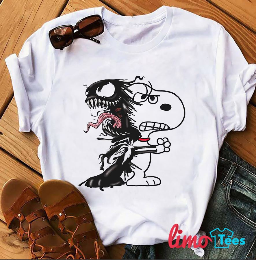Venom and Snoopy fusion shirt