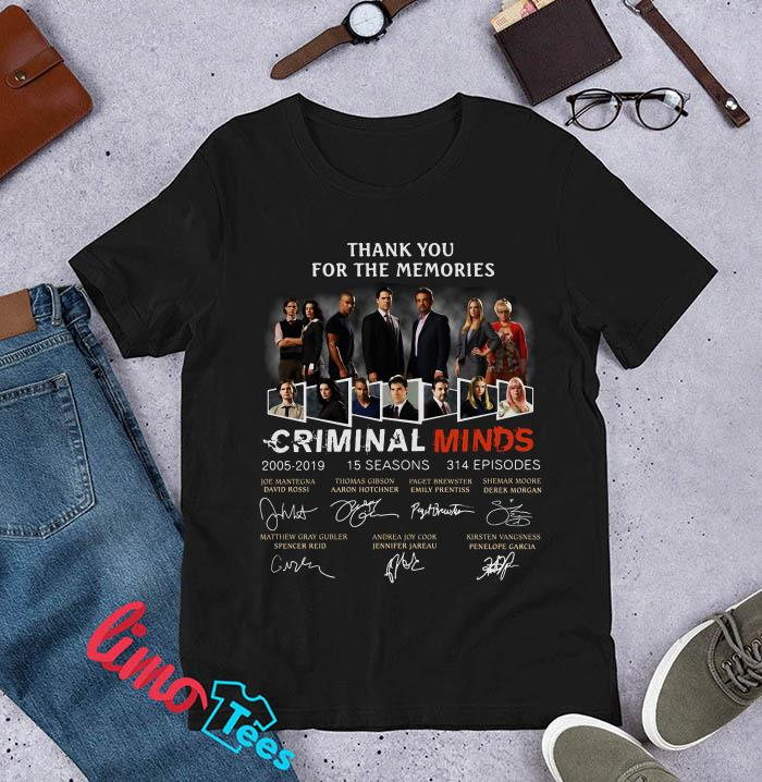 Criminal Minds thank you for the memories ladies shirt