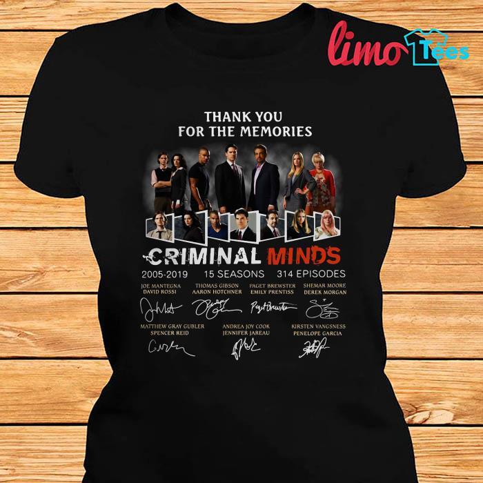Criminal Minds thank you for the memories shirt