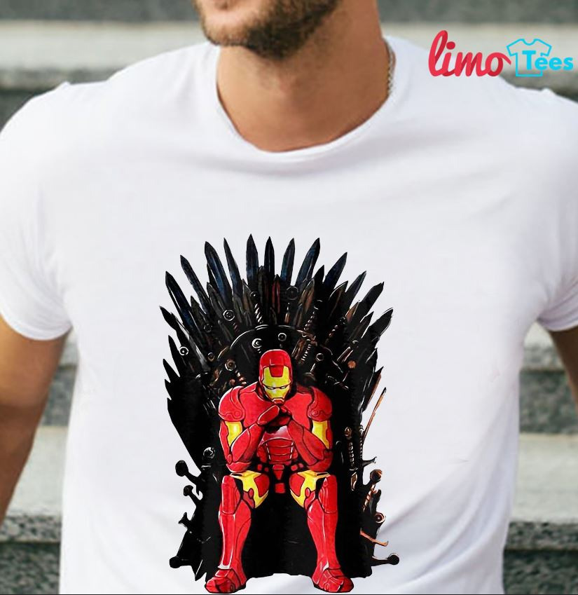 Thrones Tony Stark Marvel Endgame t-shirt