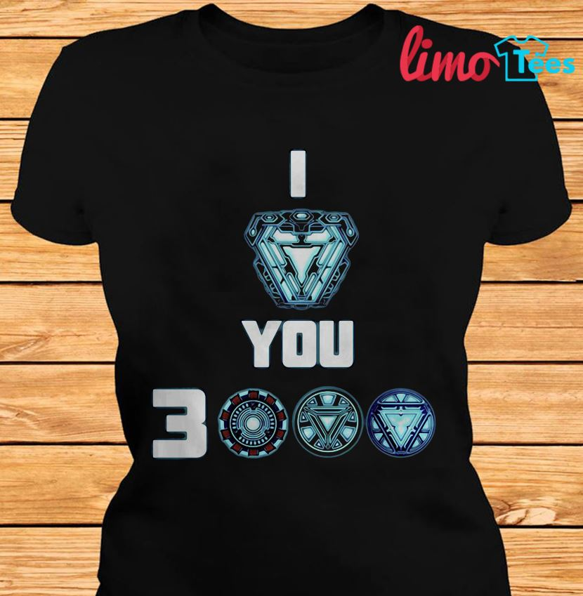 Tony Stark I love you 3000 Avengers Endgame t-shirt