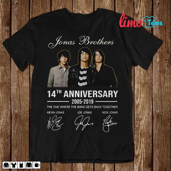 7c2a383e2 Jonas Brothers 14th anniversary all signature shirt, unisex shirt ...