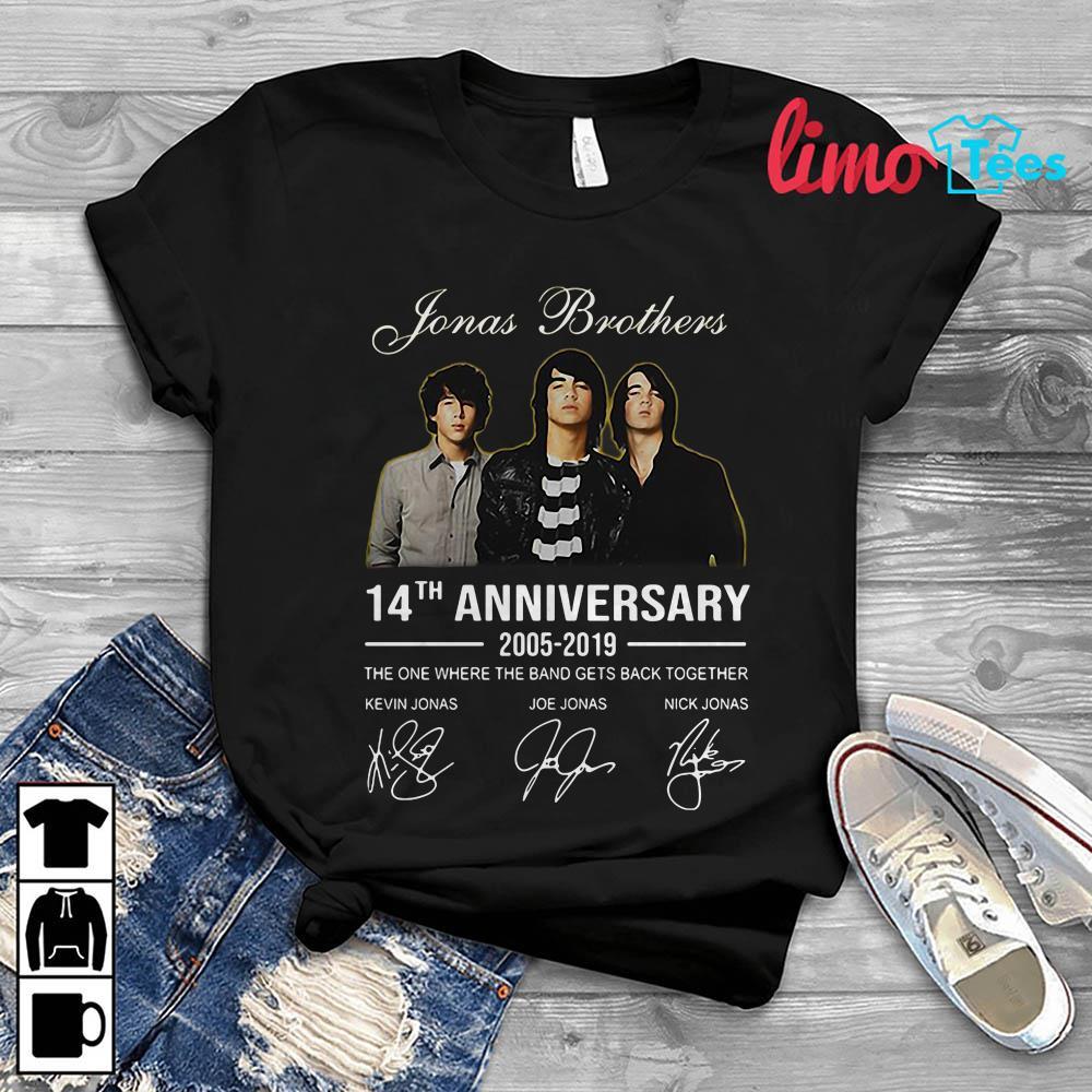 e108b8aaa Jonas Brothers 14th anniversary all signature shirt, unisex shirt,  longsleeve