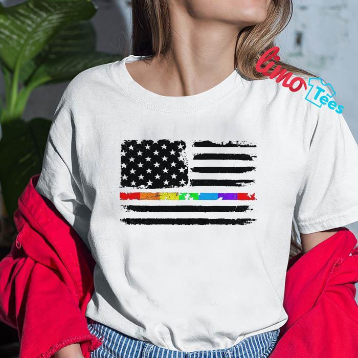 LGBT American flag July 4th t-shirt