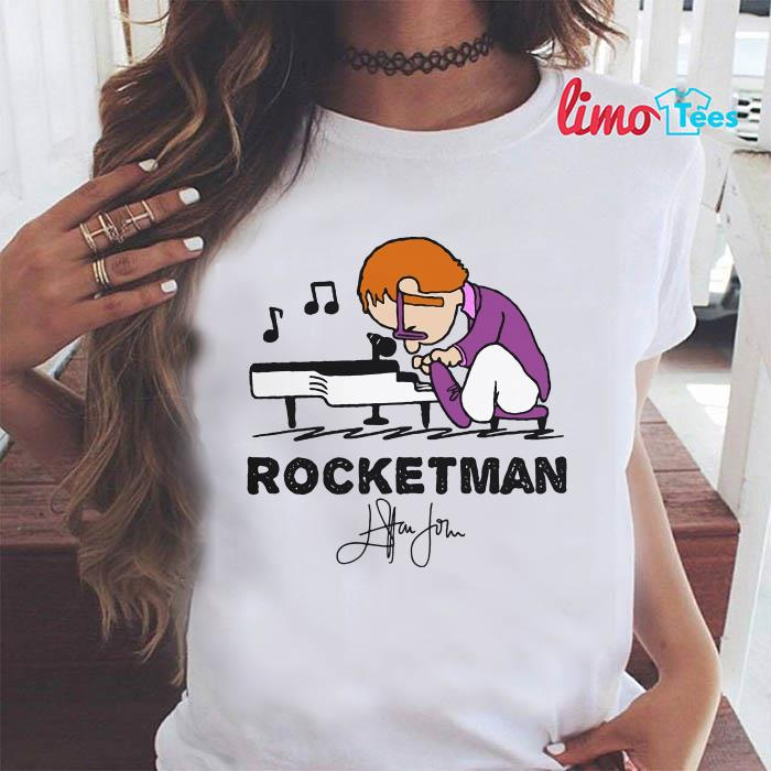 Rocketman Elton John plays piano t-shirt
