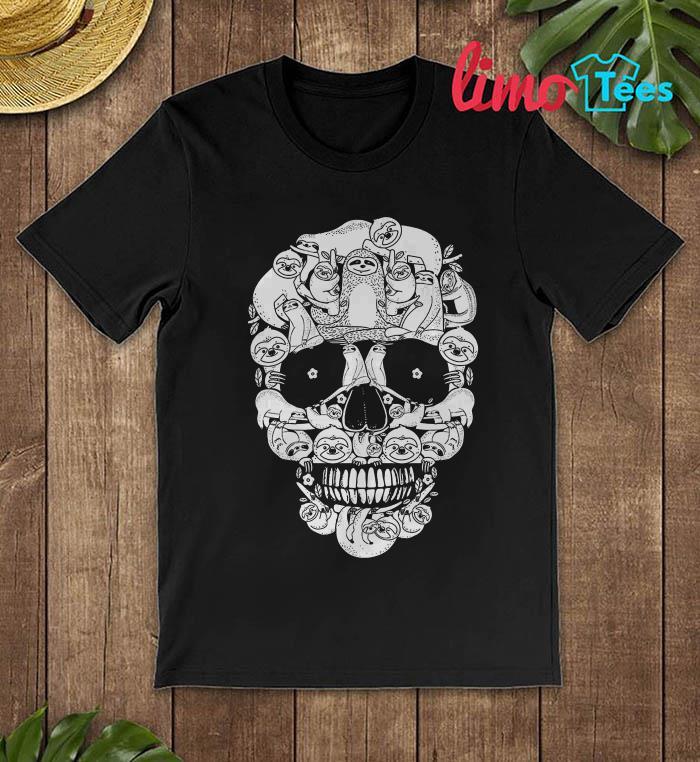 Sloth sugar skull t-shirt