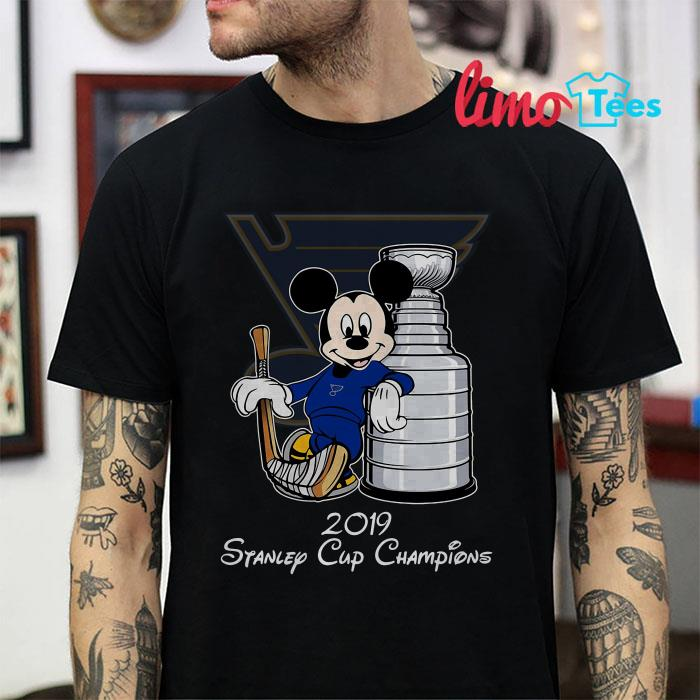 St. Louis Blues Mickey 2019 stanley cup champions shirt