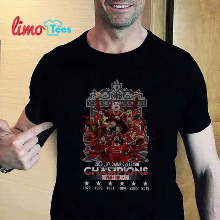 You never walk alone 2019 champions Liverpool FC shirt