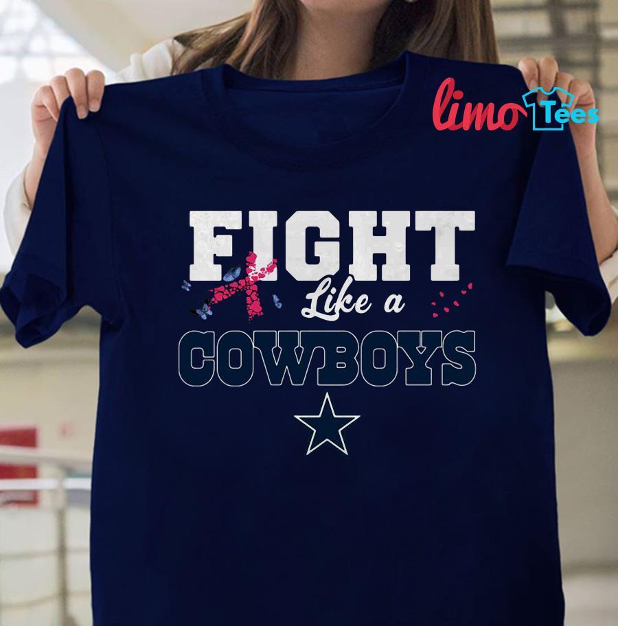 Fight like a Cowboys breast cancer shirt