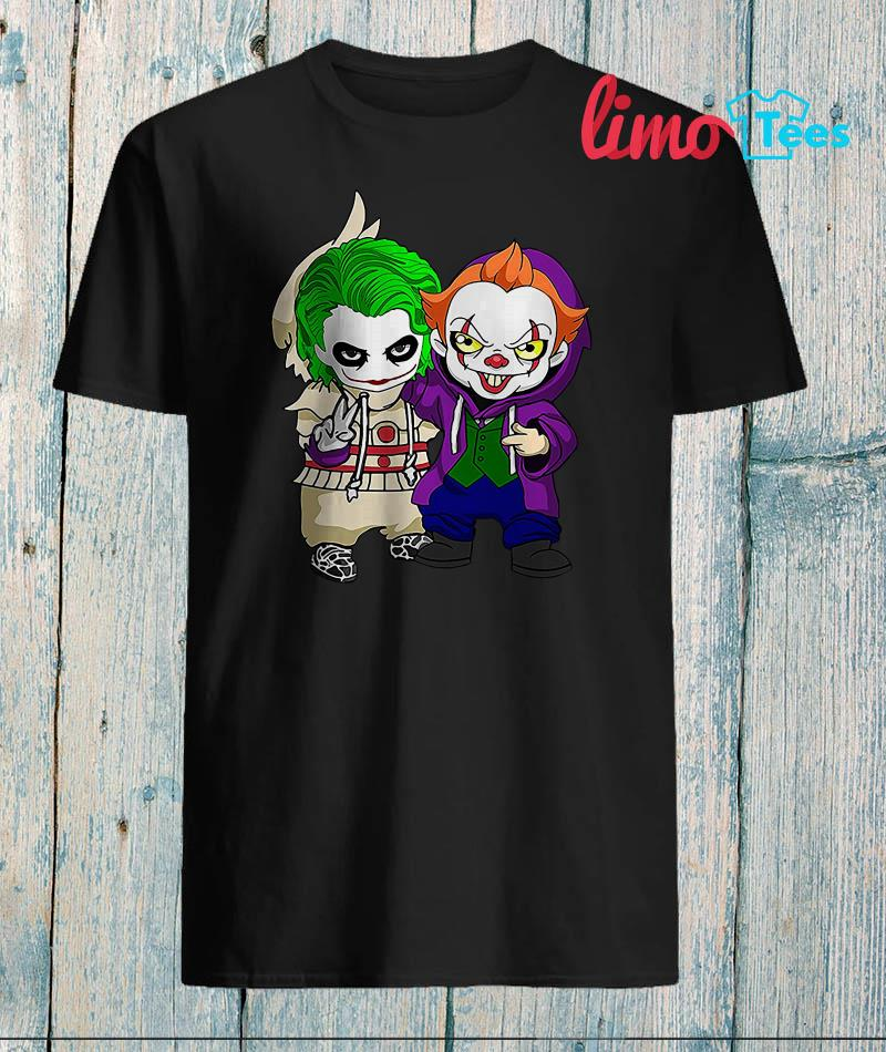 Friends Joker and Pennywise funny costume shirt