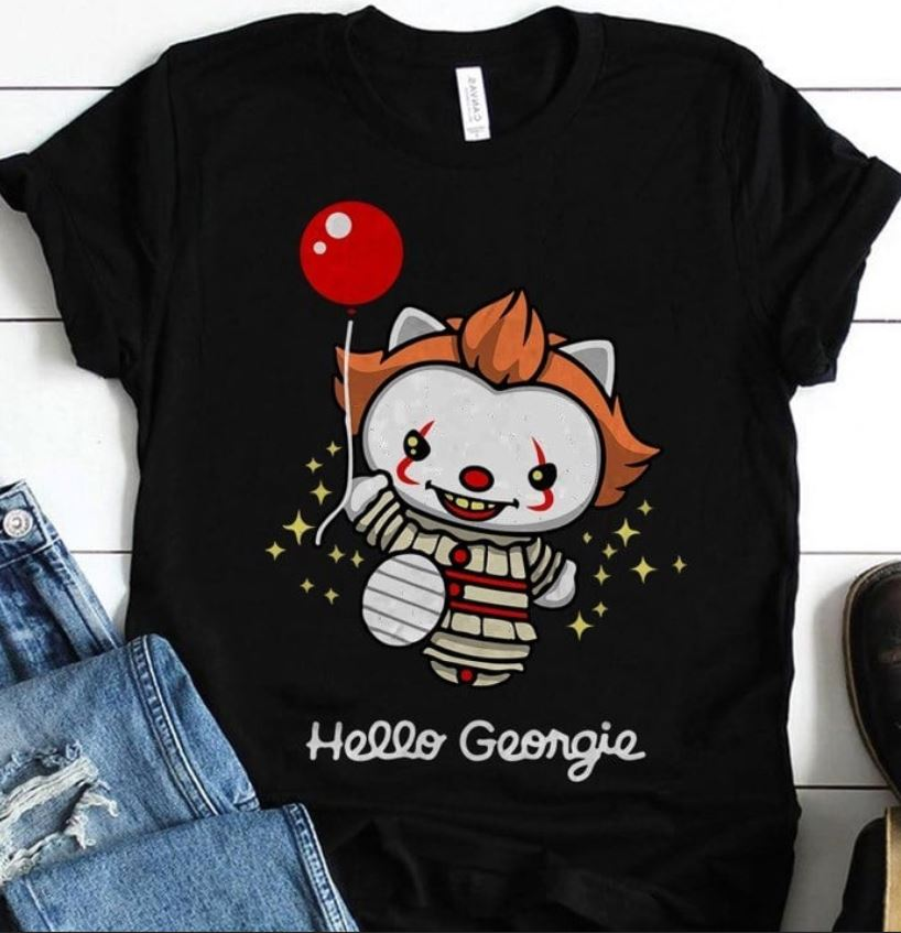 Pennywise hello Kitty hello Georgie shirt