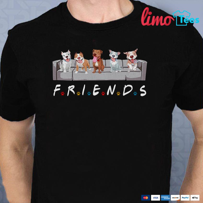 Pitbull Friends tv shirt