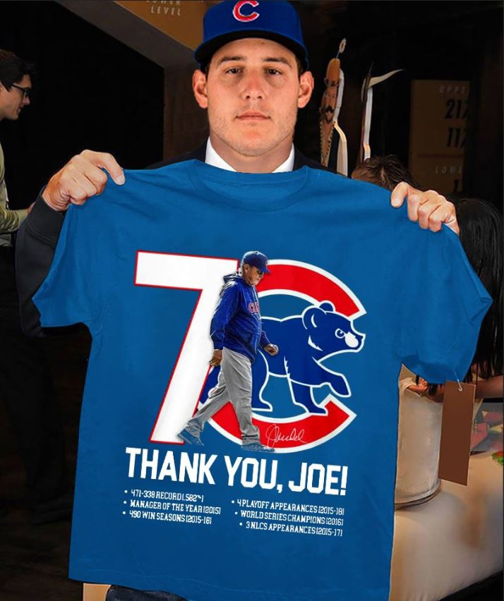 Chicago Cubs thank you Joe Maddon Rumors unisex shirt