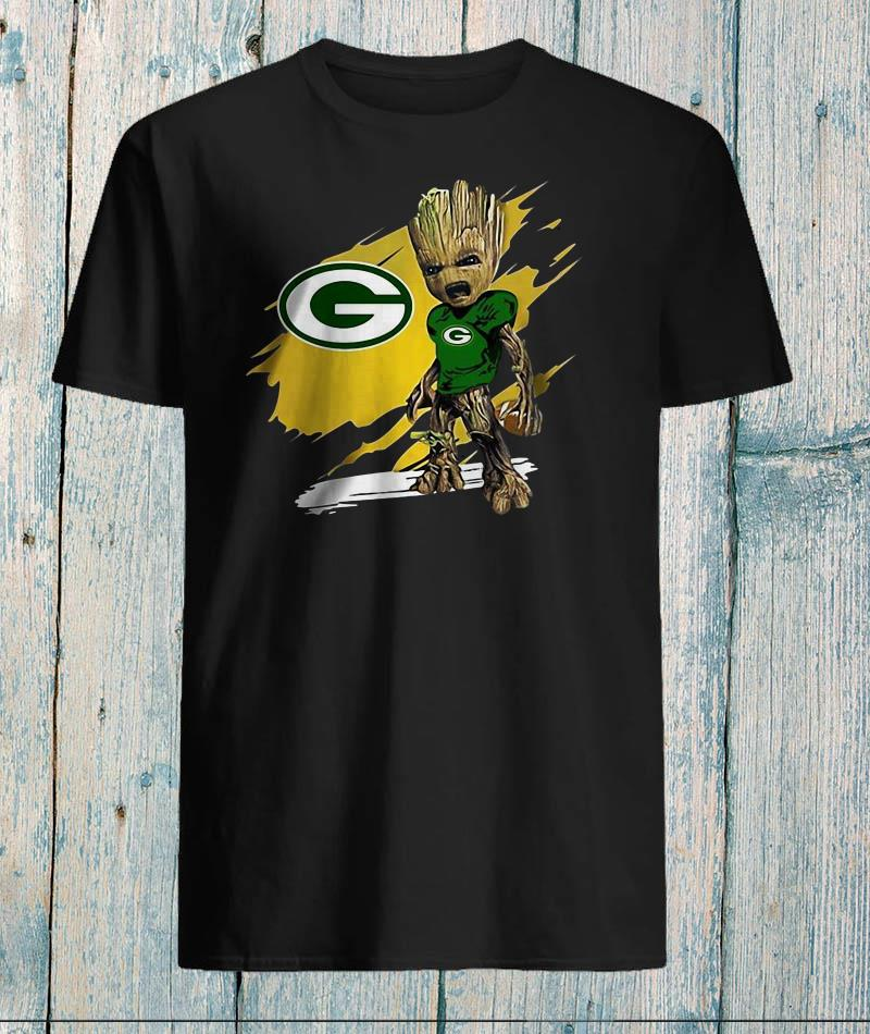 Green Bay Packers Angry baby Groot t-shirt
