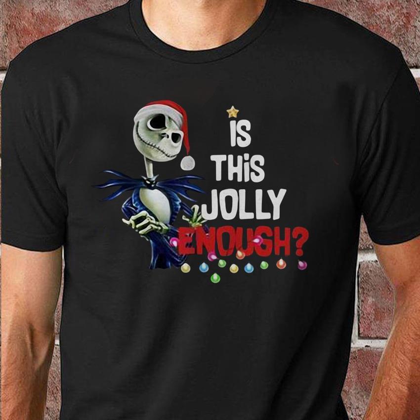 Jack Skellington Santa is this Jolly enough unisex shirt