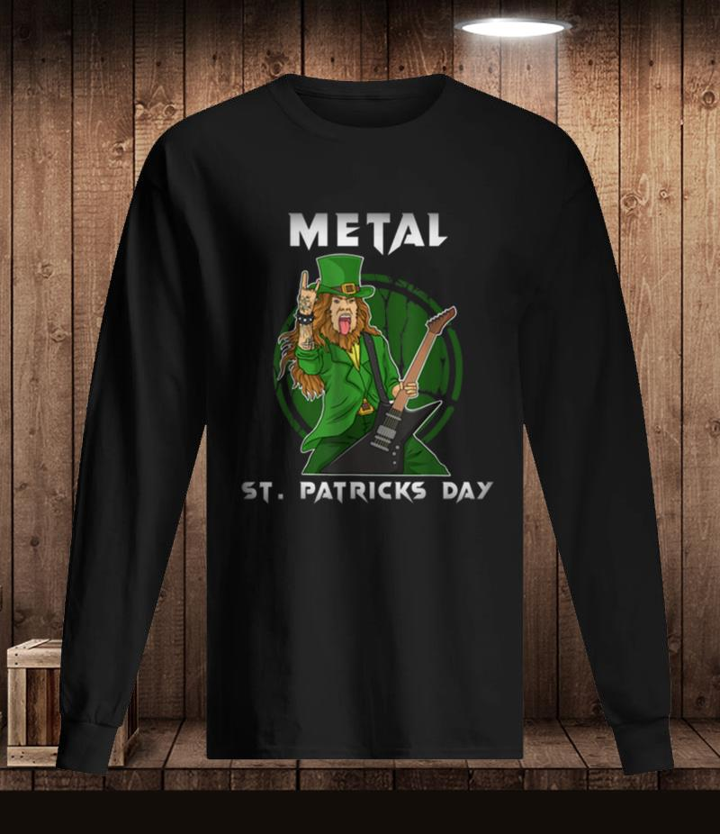 Heavy Metal St Patricks day rock horns t-shirt