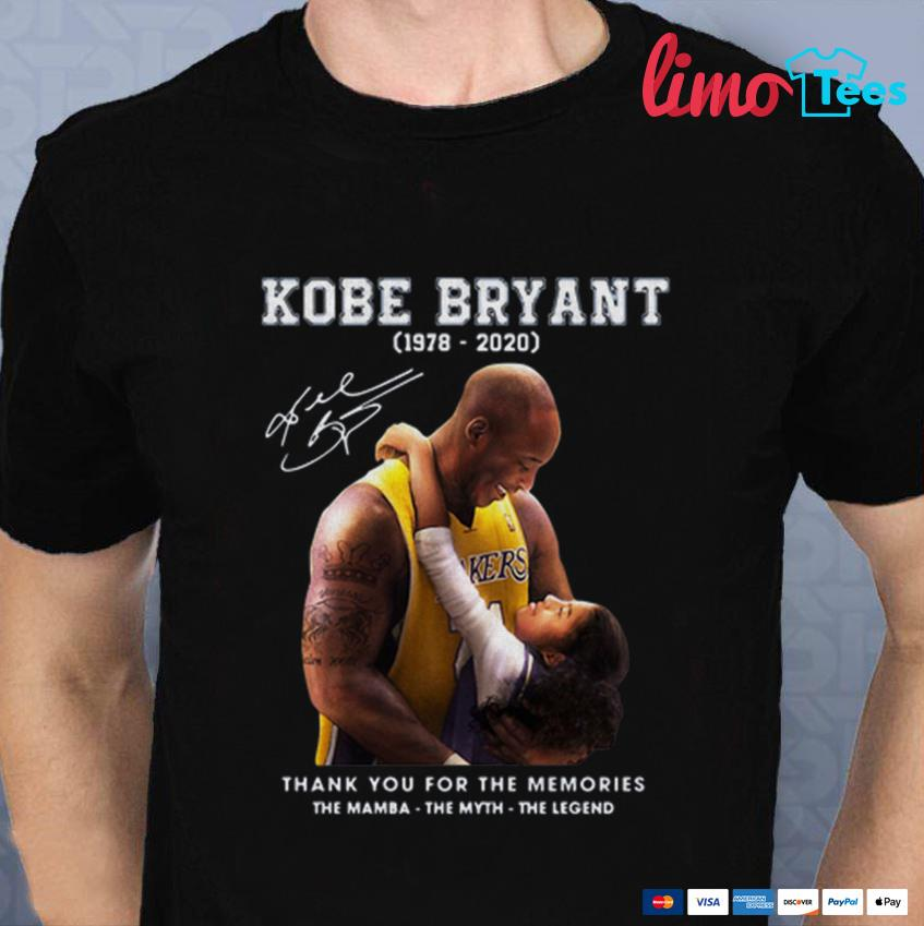 Kobe Bryant and Gigi thank you for the memories unisex t-shirt