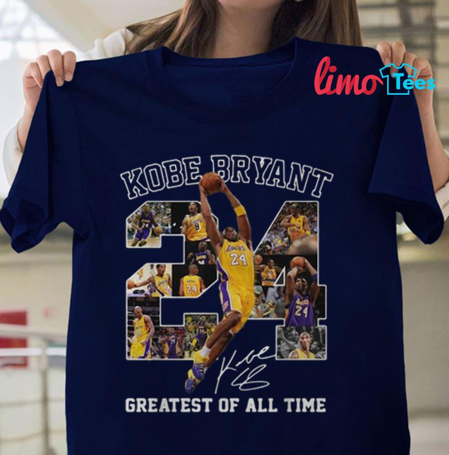 Rip 24 Kobe Bryant signature greatest of all time t-shirt
