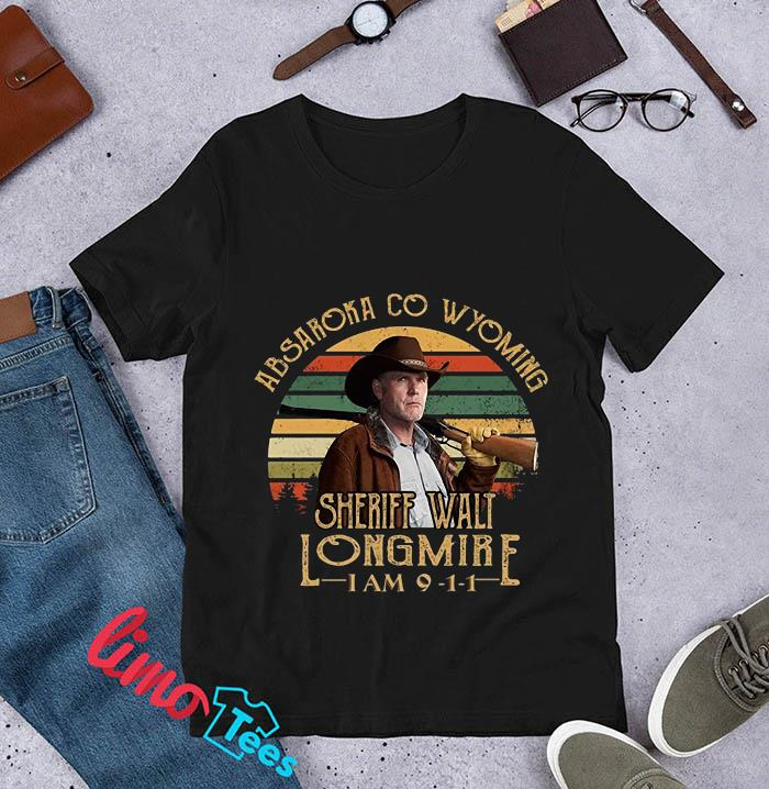 Absaroka Co Wyoming Sheriff Walt Longmire vintage t-s unisex