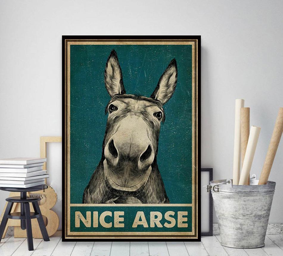 Donkey nice arse vertical poster decor art