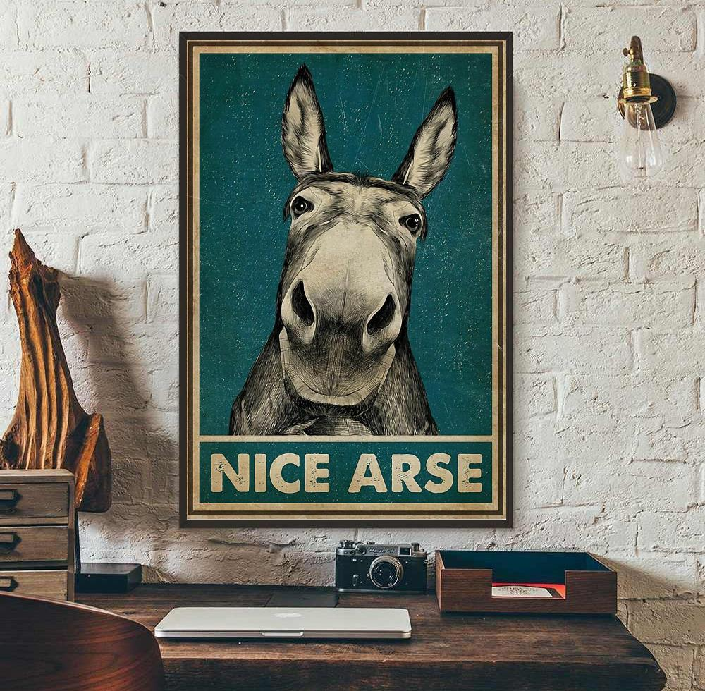 Donkey nice arse vertical poster wall art