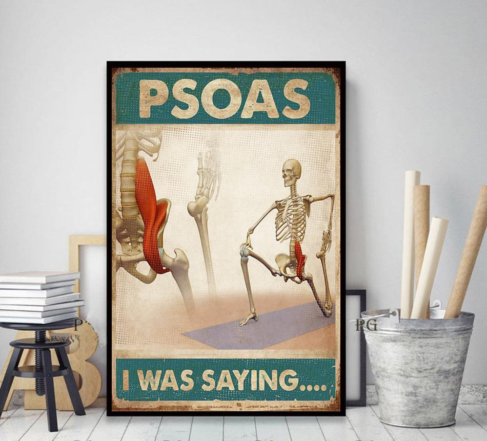 Skeletion Psoas I was saying poster canvas decor art