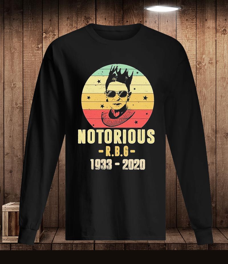 1933-2020 Notorious RBG Ruth Bader Ginsburg t-s Longsleeve