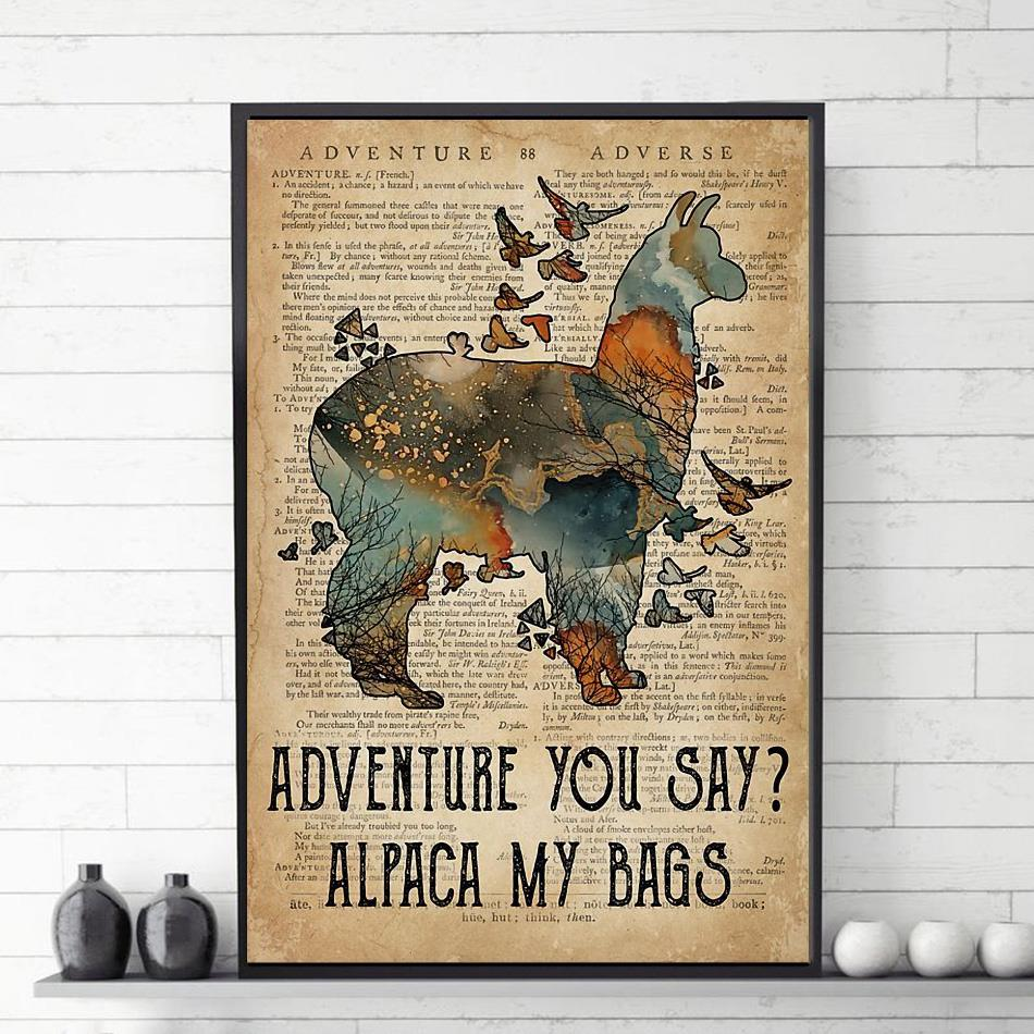 Adventure you say alpaca my bags canvas
