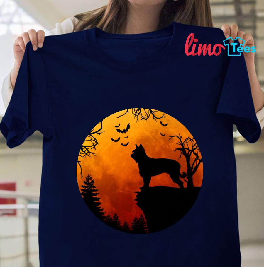 Berger Picard Love Darkness blood moon t-s navy unisex