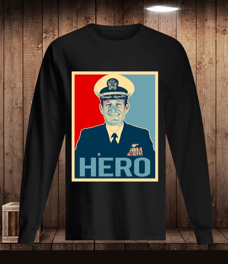 Captain Brett Crozier hero t-s Longsleeve