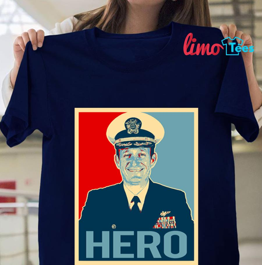 Captain Brett Crozier hero t-shirt