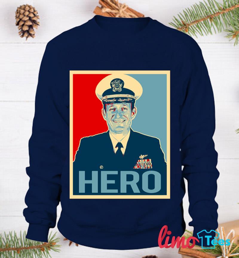 Captain Brett Crozier hero t-s sweatshirt
