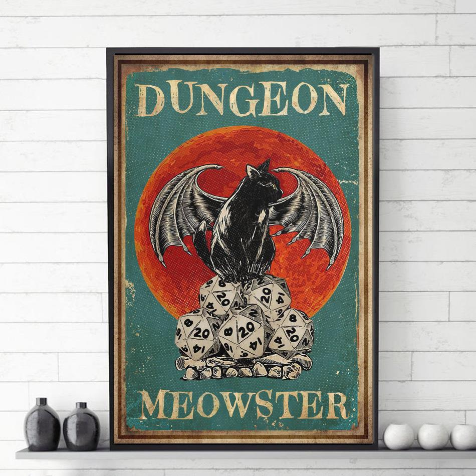 Cat dungeon meowster poster