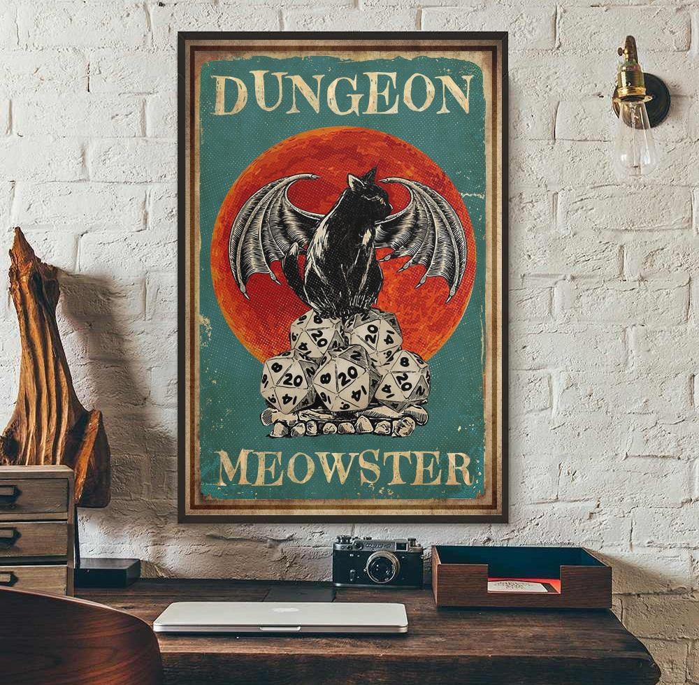 Cat dungeon meowster poster wall art