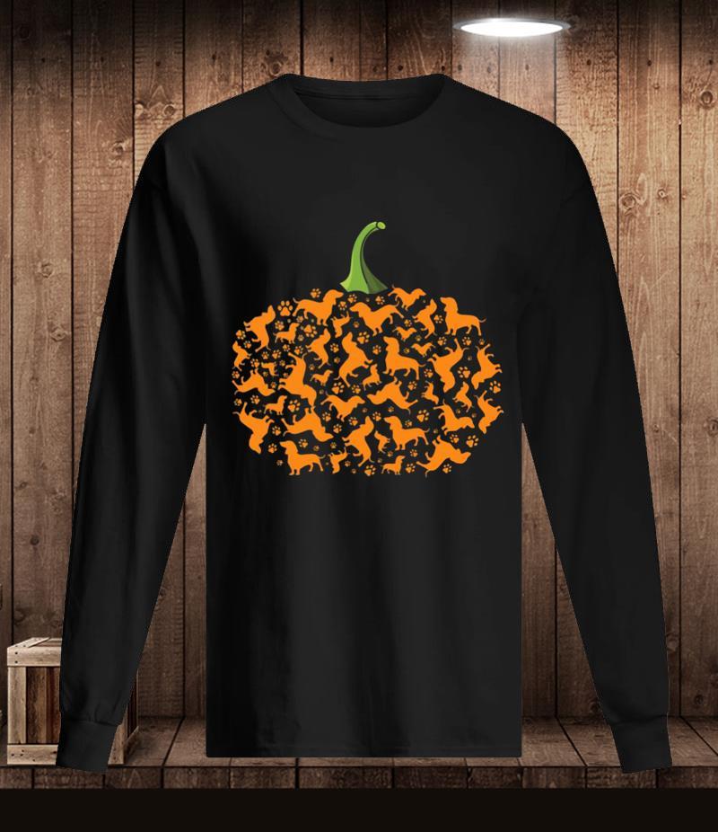 Dachshund pumpkin paws Halloween t-s Longsleeve